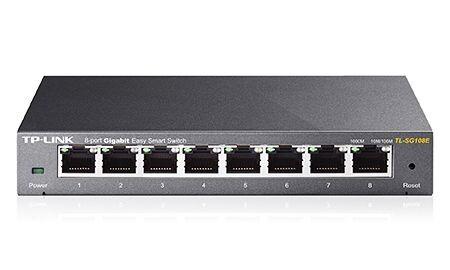 Switch TP-Link 8 portas Easy Smart Gigabit -TL-SG108E