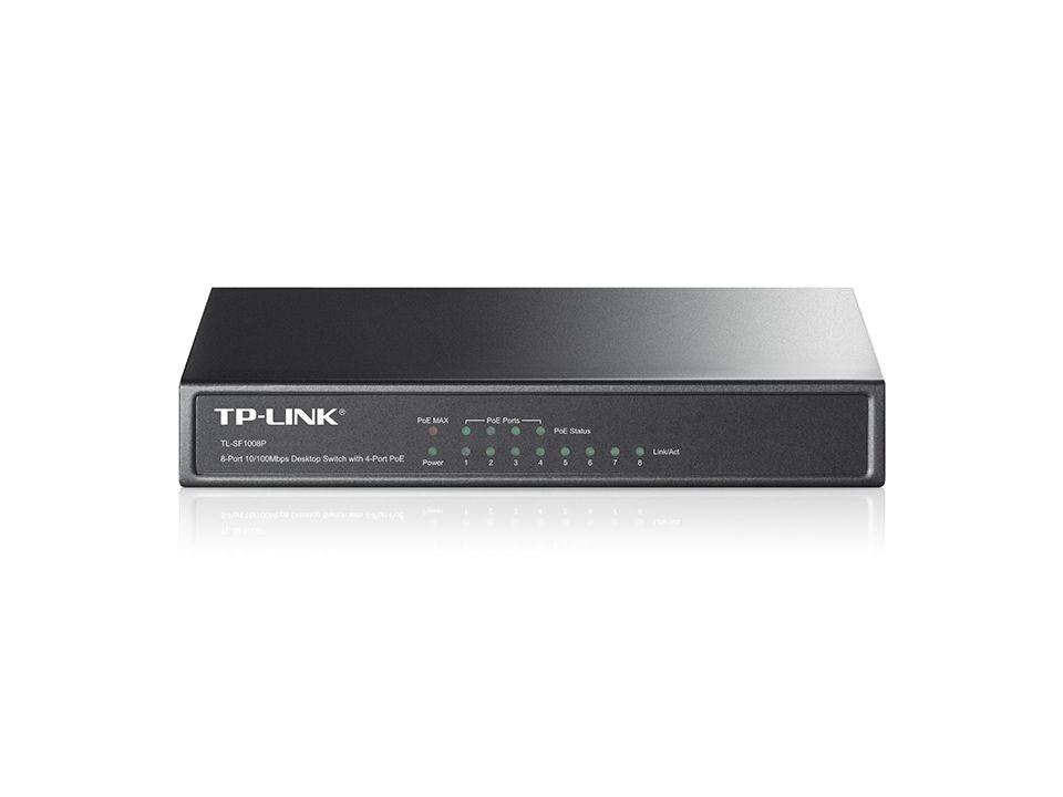 Switch de mesa TP-Link 8 portas 10/100M PoE  - TL-SF1008P