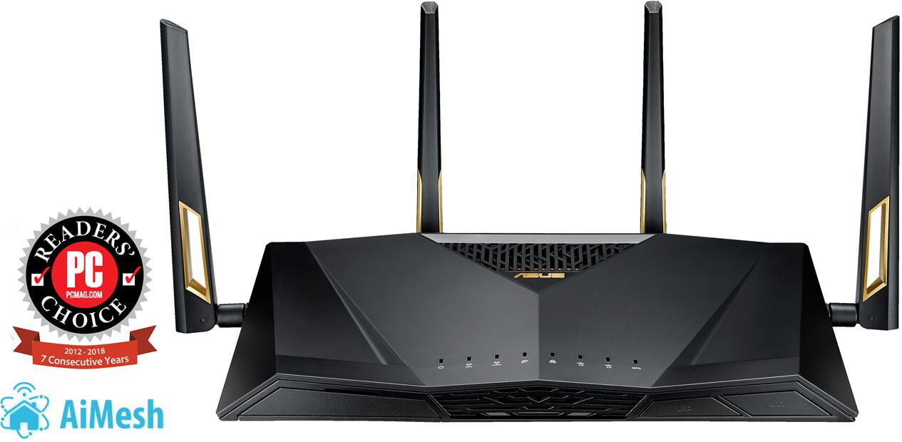 Router Gaming Asus AiMesh RT-AX88U AX6000 Dual Band