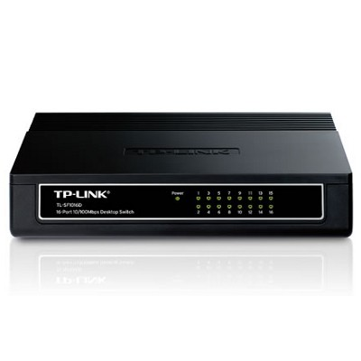 Switch de mesa TP-Link 16 portas 10/100 - TL-SF1016D