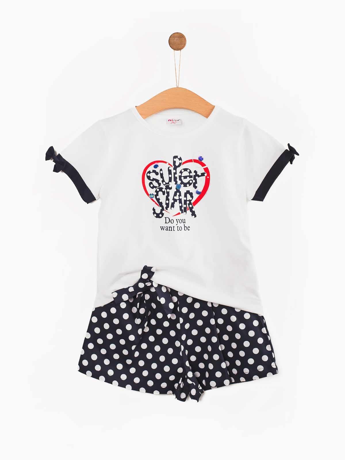 Conjunto menina t-shirt calções