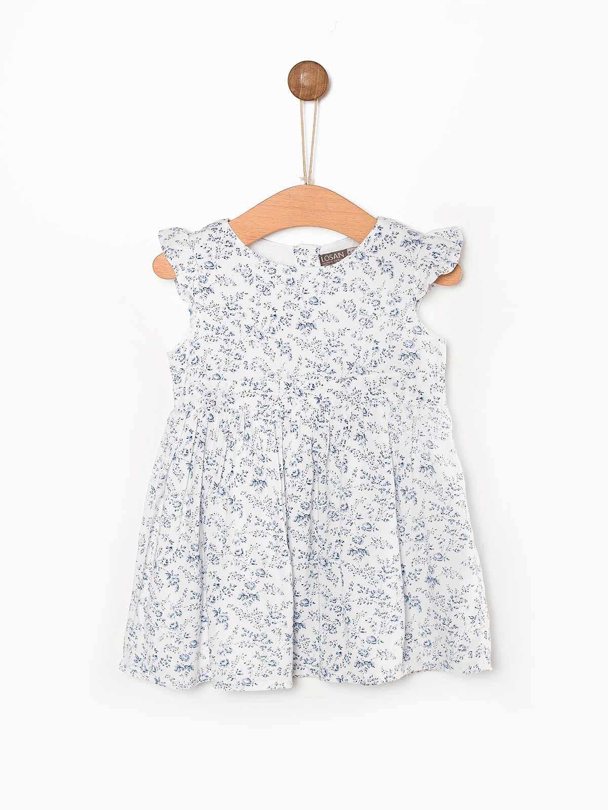 Conjunto vestido branco floral