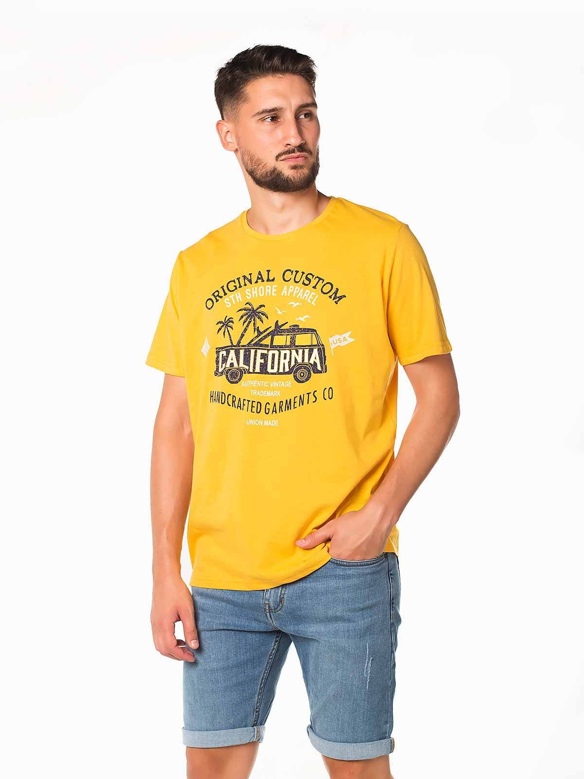 Camiseta hombre manga corta California