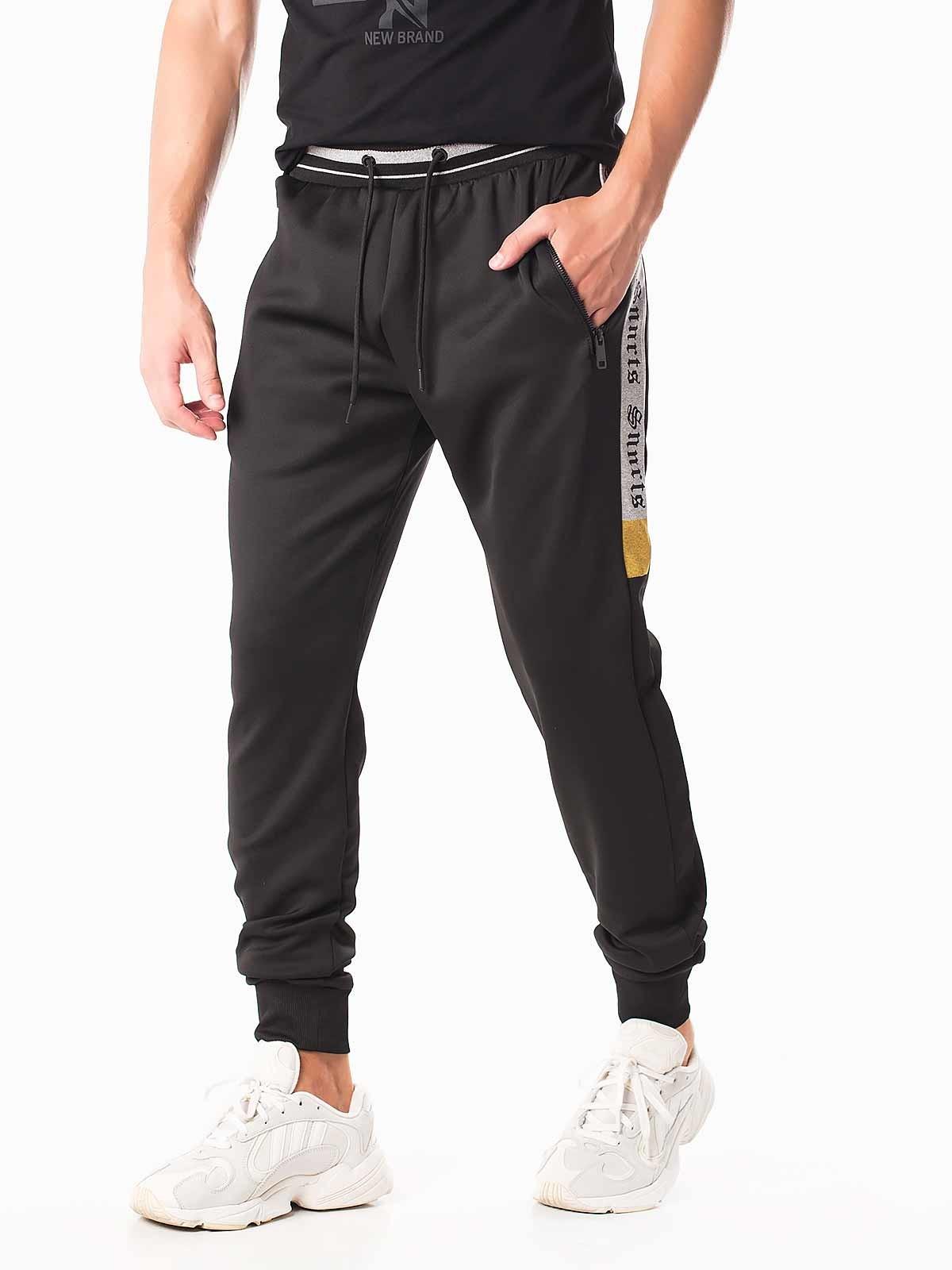 Pantalones de chándal raya estampada