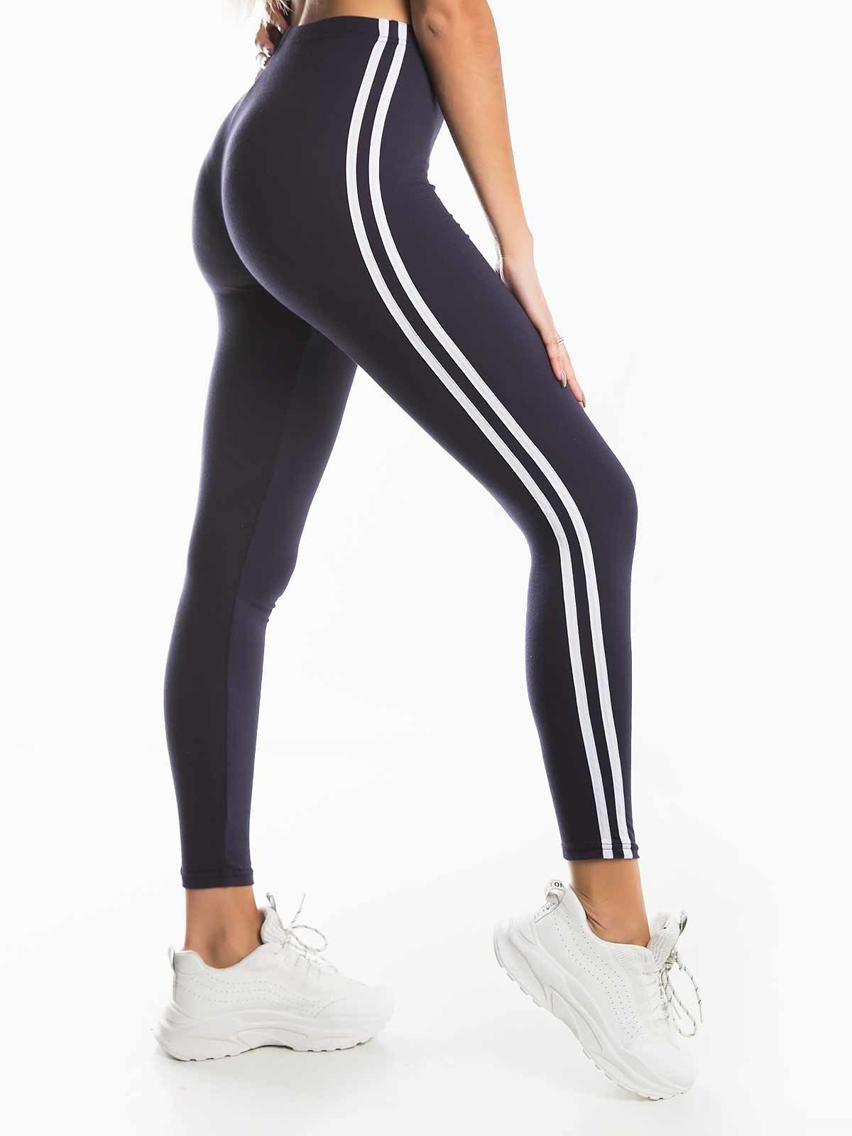 Leggings riscas brancas laterais