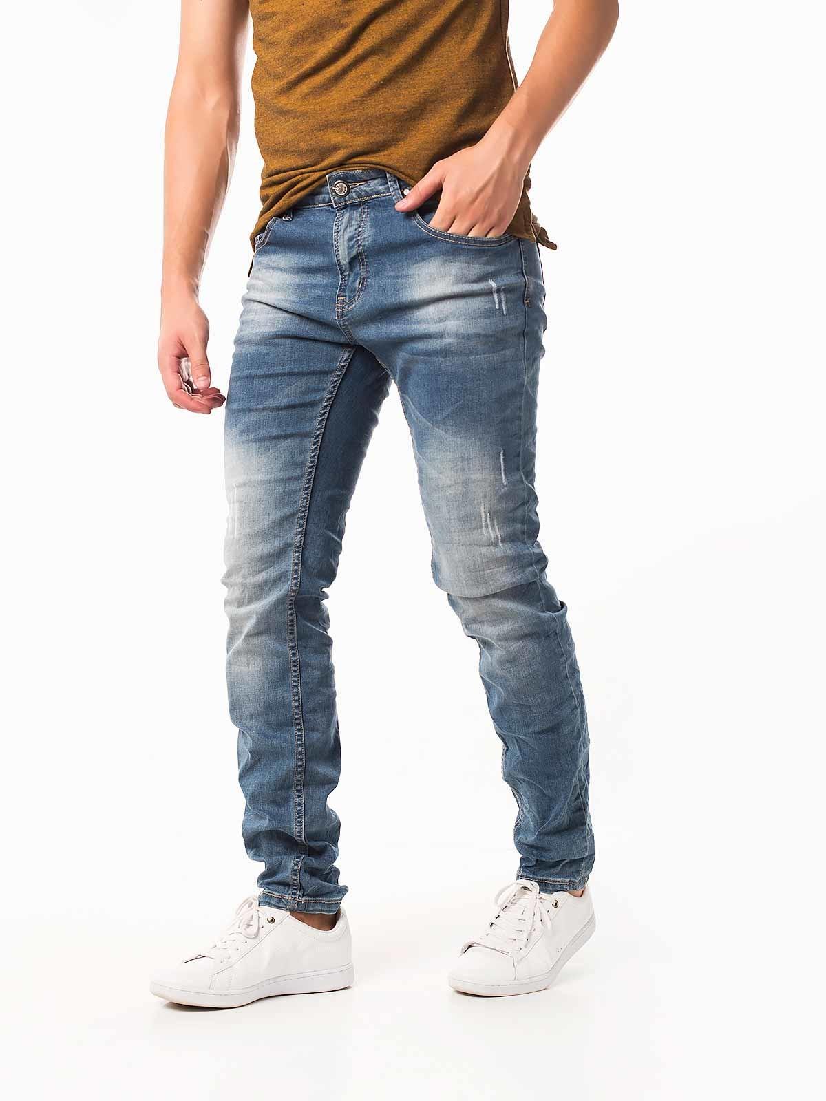 Calças de ganga clara slim fit