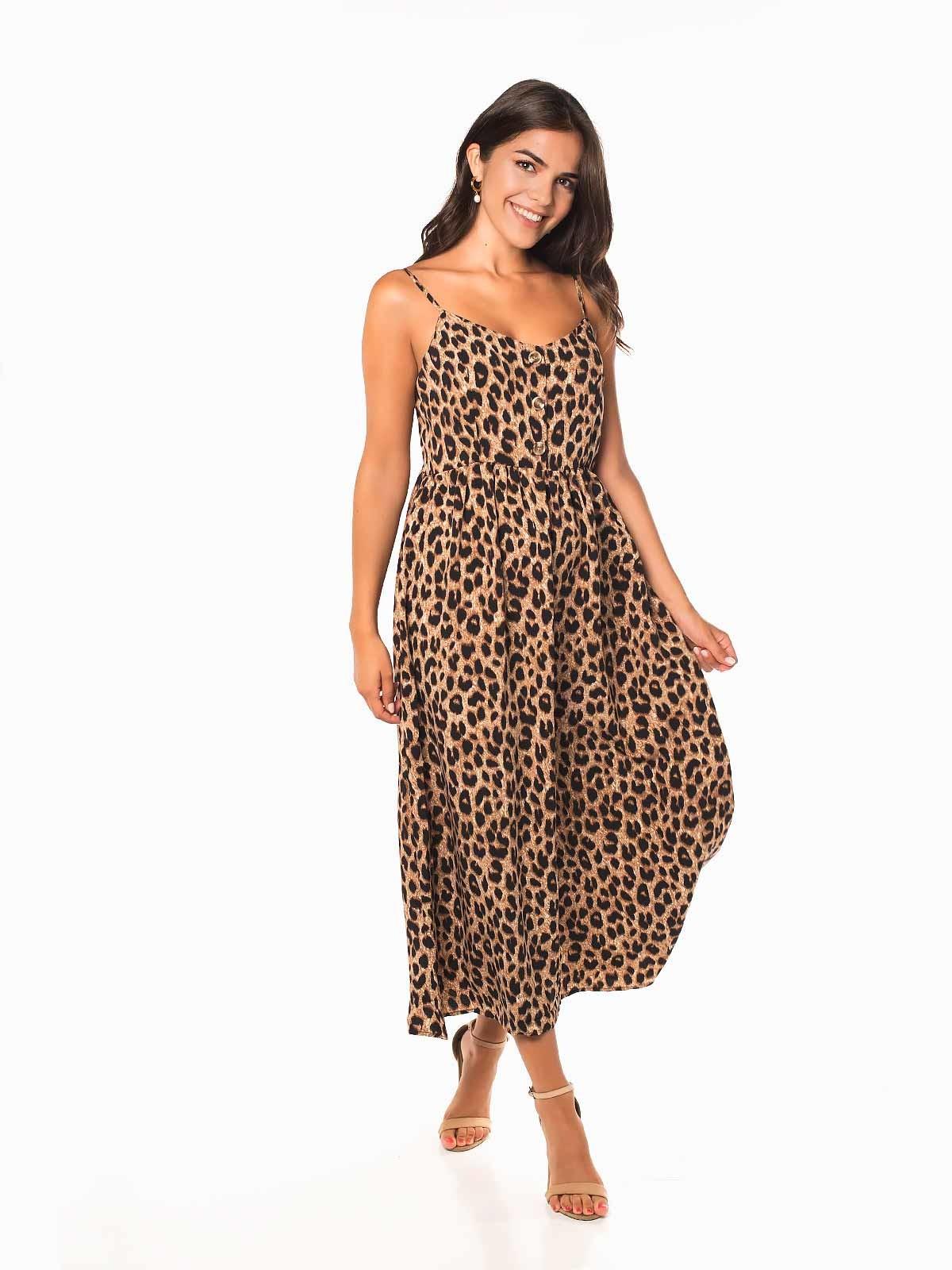 Vestido largo de tigresa