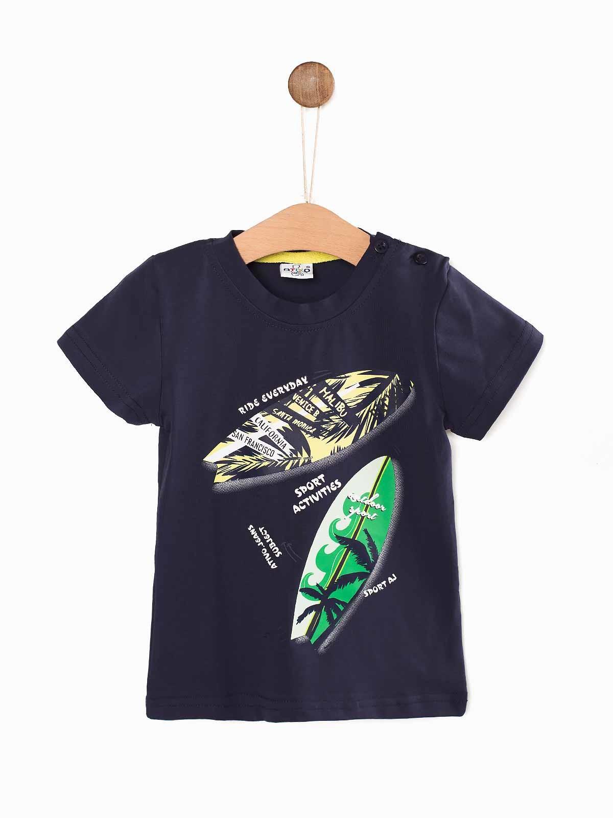 T-shirt bebé estampada Surf