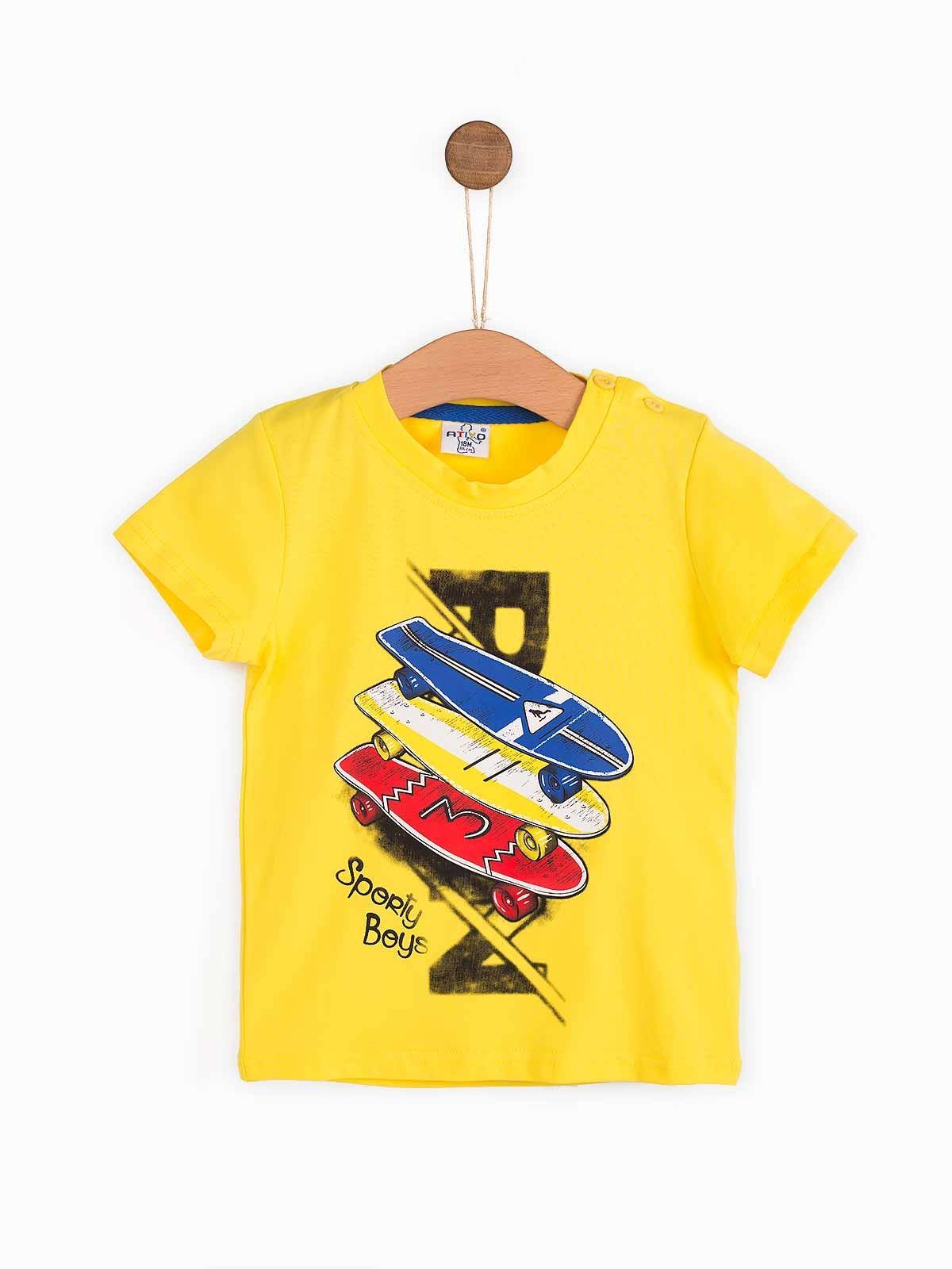 T-shirt manga curta Skates