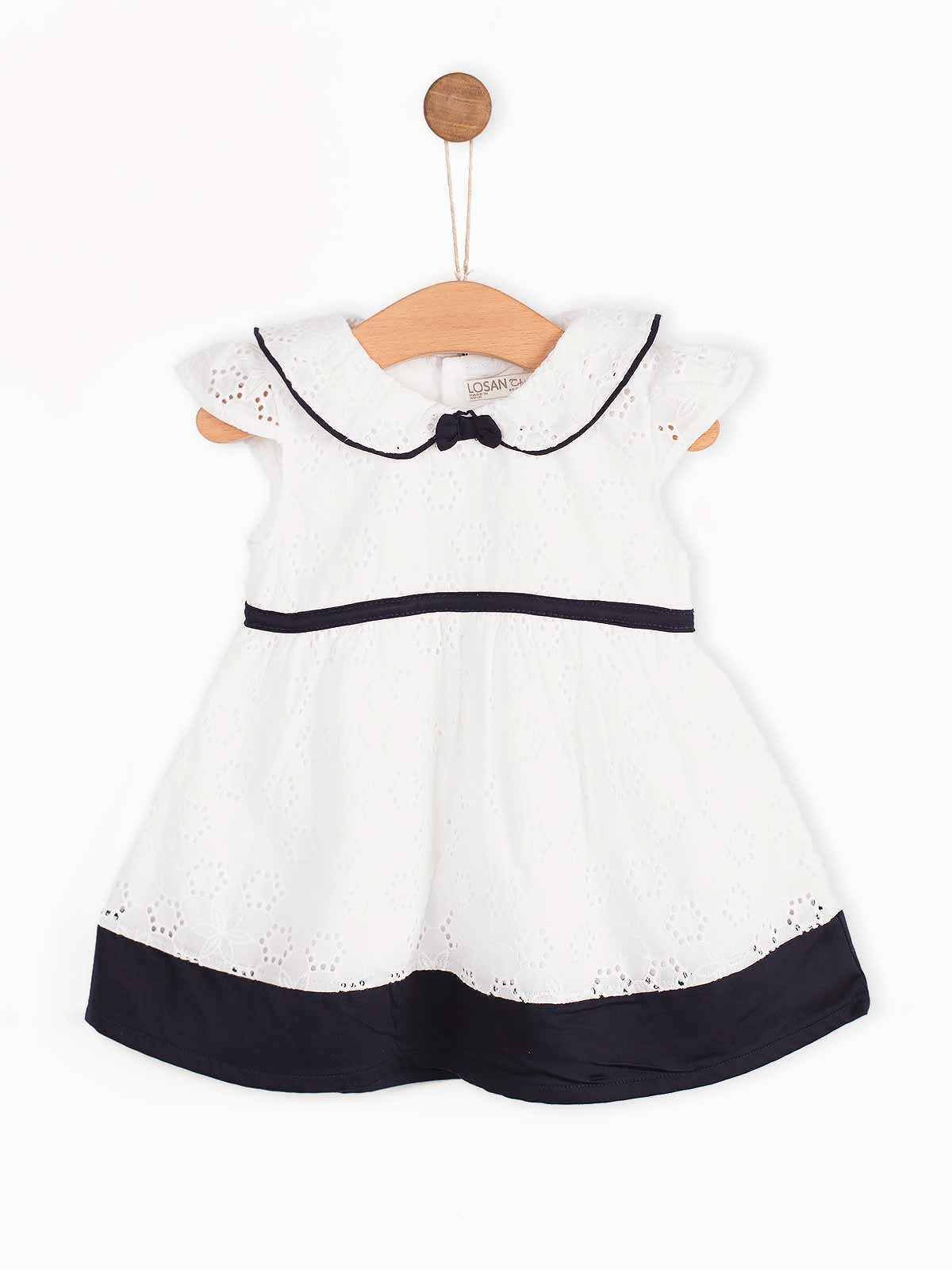 Conjunto vestido branco bordado inglês