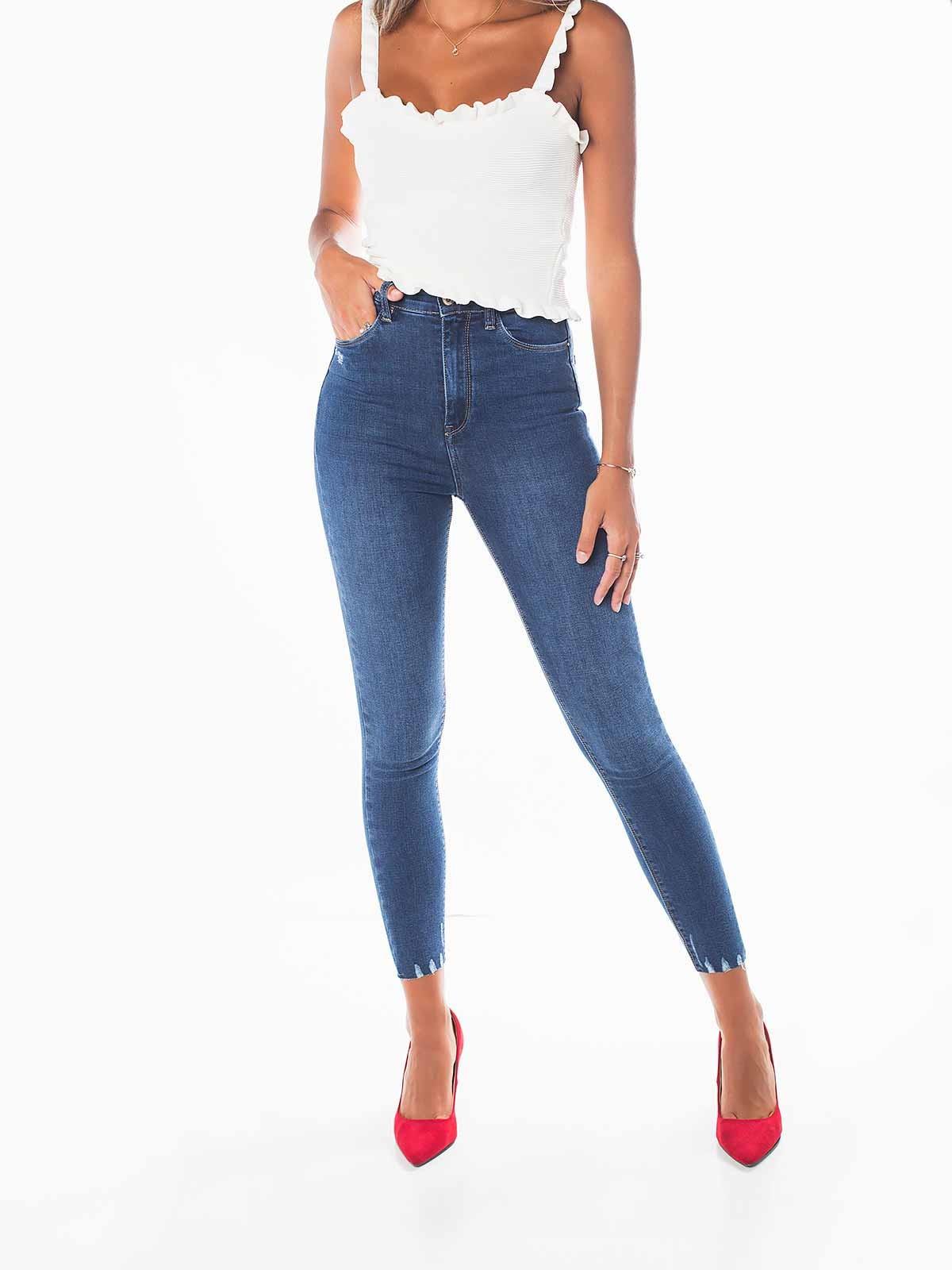 Calças ganga skinny super high waist
