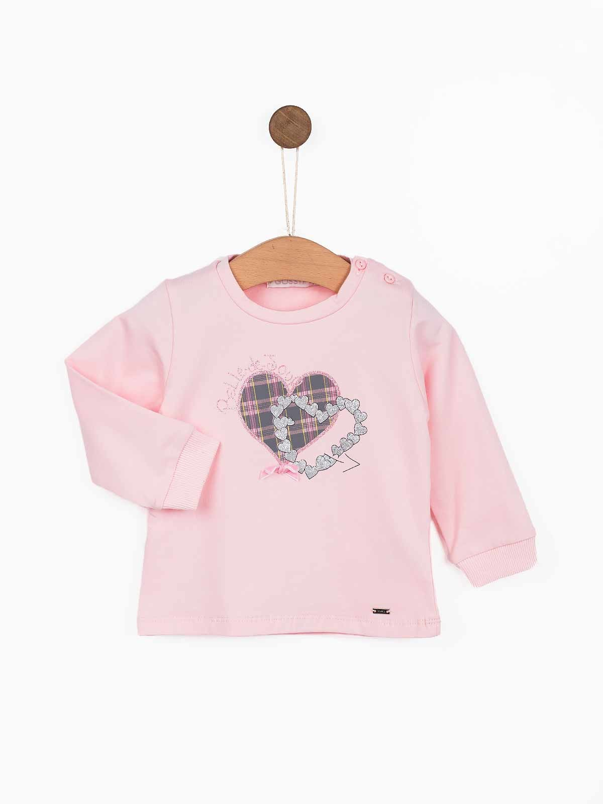 Camisola manga comprida corações