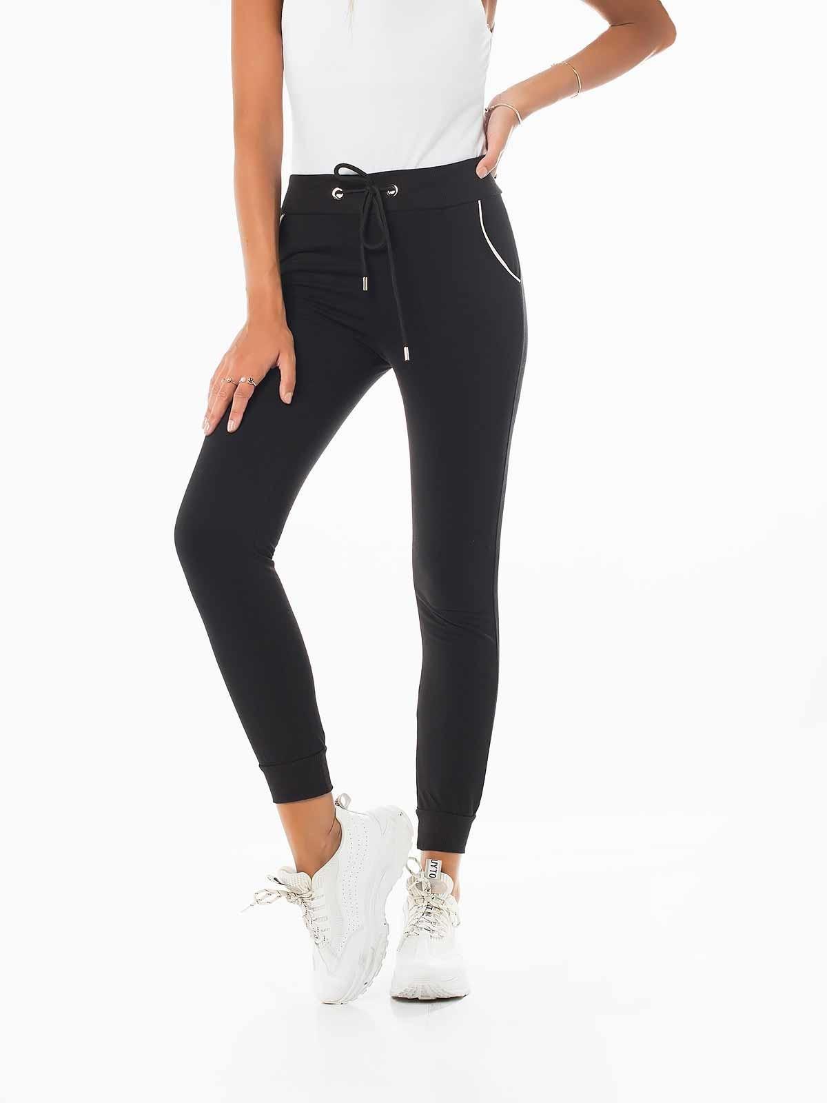 Pantalones de chándal raya blanca
