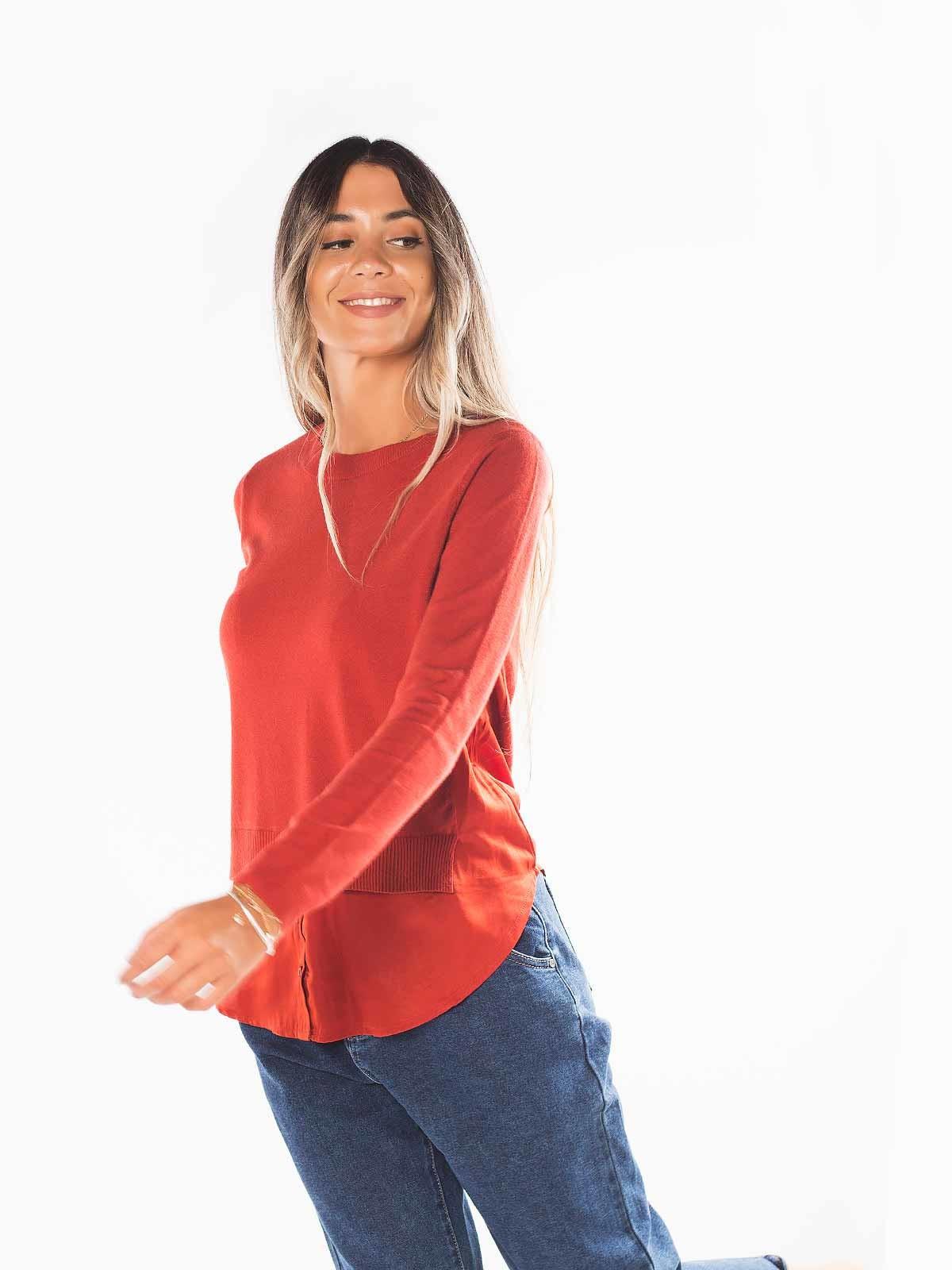 Camisola malha com blusa