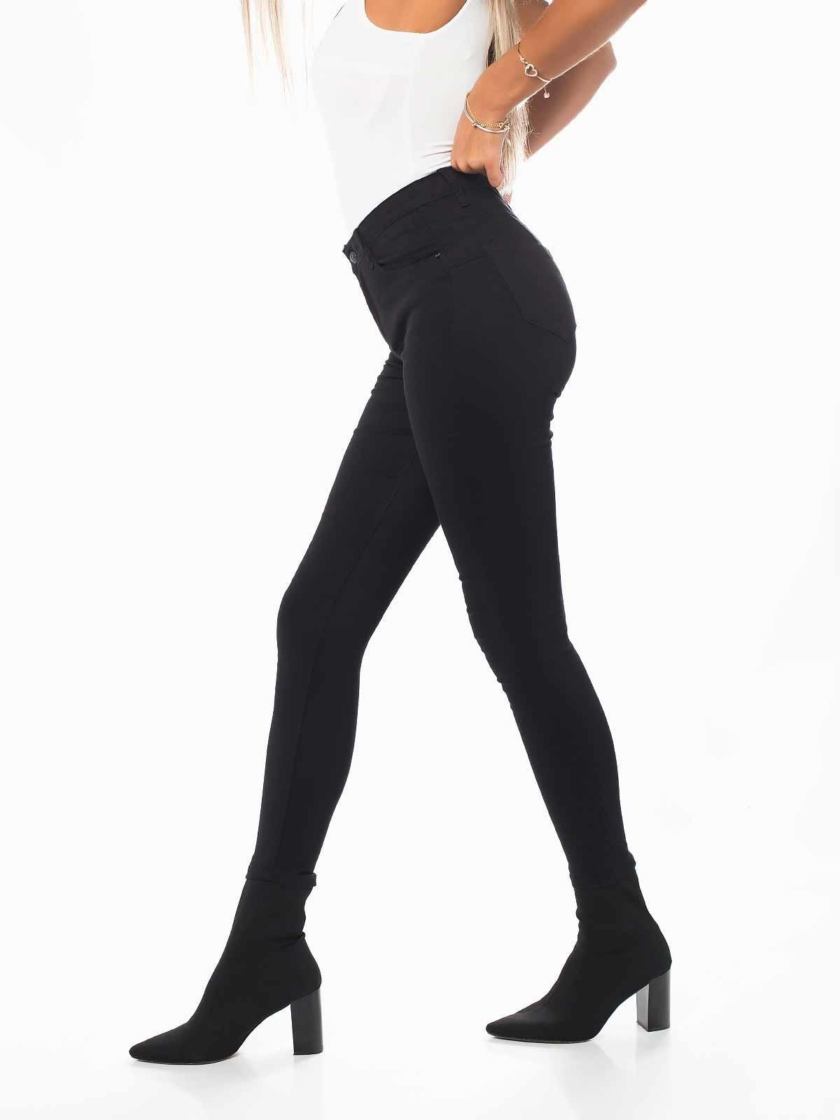 Pantalones negros push up skinny jeans