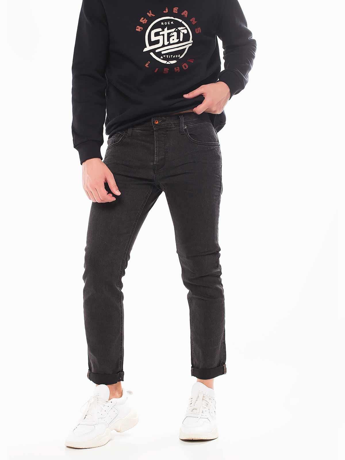 Calças ganga pretas slim fit