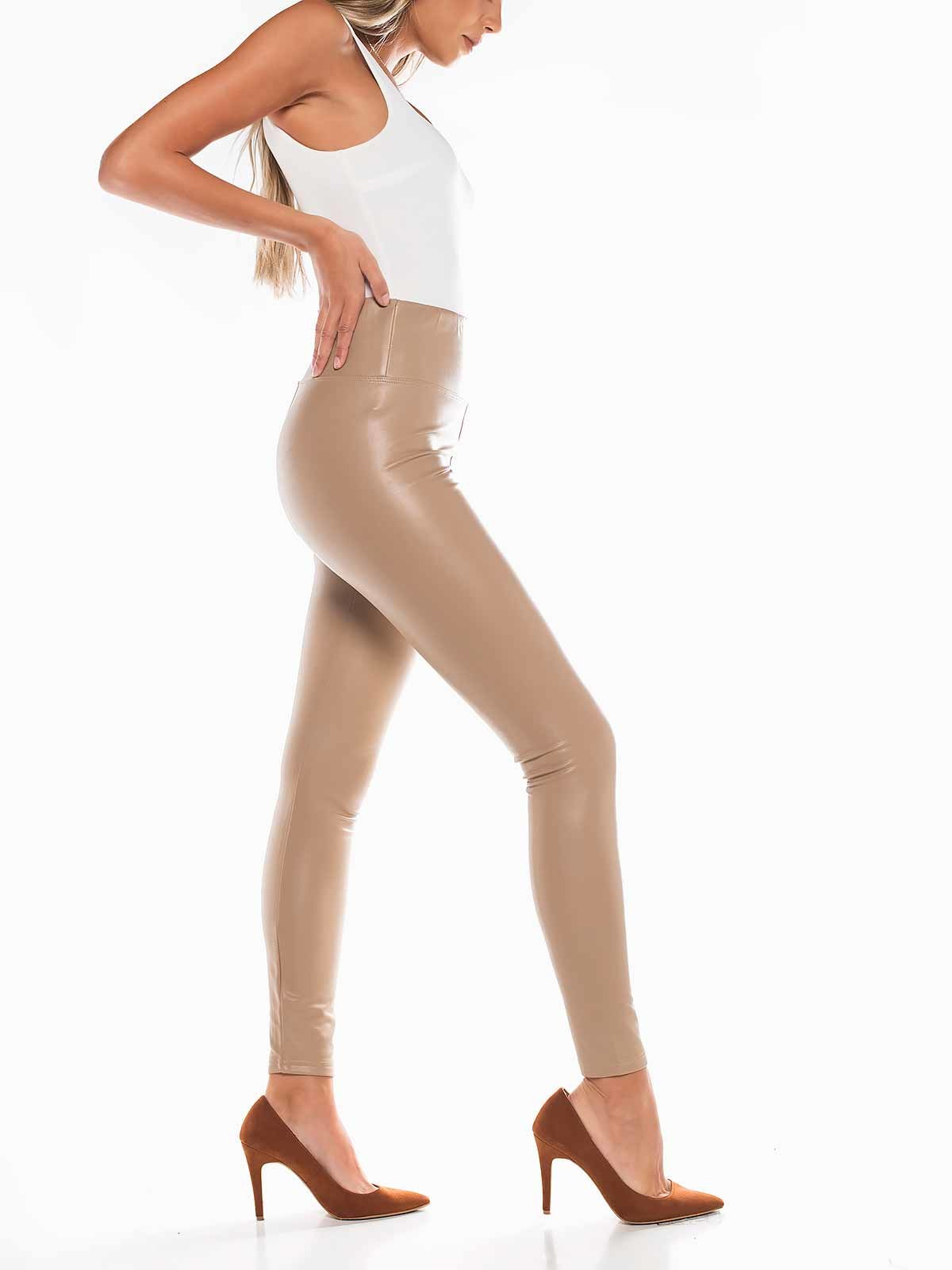 Leggings de napa beige